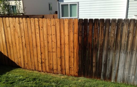 Wooden Fence Cleaning – October 2020