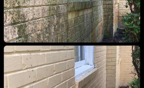 Painted Brick Power Wash – February 2021