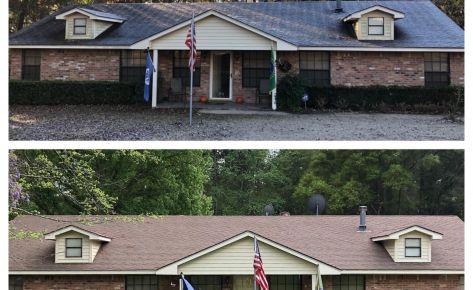 Roof Shingles Soft Washing – February 2021